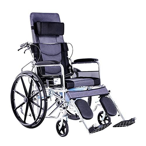 BSJZ Silla de Ruedas portátil, pasamanos liviano Plegable Que se Puede Utilizar para carros para Personas Mayores con discapacidad Patinete de Viaje pequeño para Personas