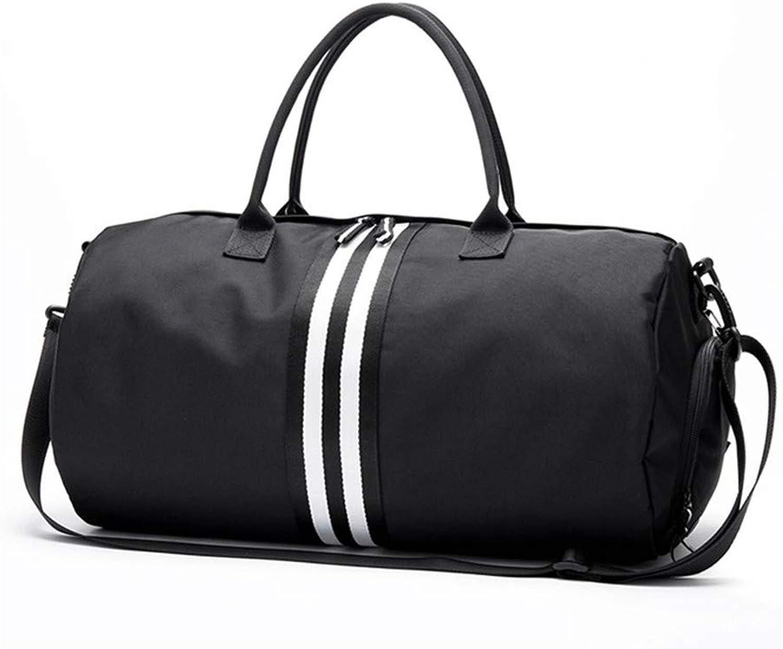 T weiblichen Sport Oxford Sporttasche für Schuhe Tasche Yoga Tasche Frauen Fitness handtaschen umhngetaschen S schwarz-Whtie