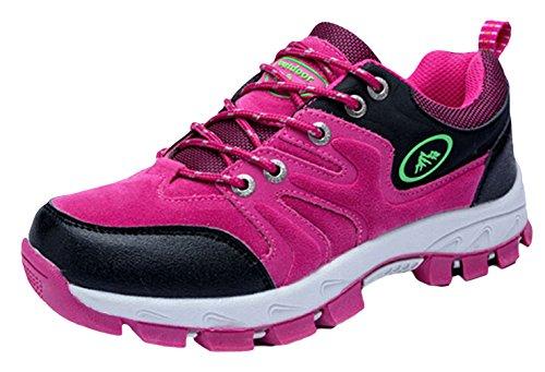 EOZY-Scarpe da Trekking Escursionismo Unisex Uomo Donna Calzatura Rosa Piedi Lunghezza 235cm