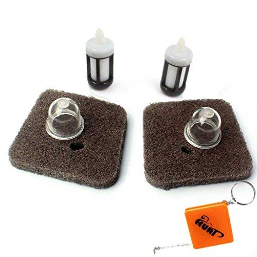 HURI Lot de 2 filtres à air pour coupe-bordure Stihl FC55 FS38 FS45 FS46 FS55 HS45 KM55 HL45