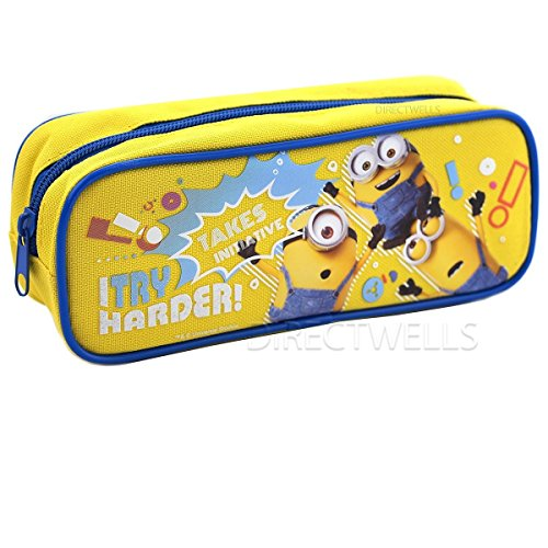 Despicable Me Minions'I Try Harder' Pencil Case (1 Pencil Case) (Yellow)