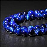 Zaffiri blu occhio di tigre perline rotonde perline di pietra naturale per gioielli che fanno 15 pollici Scegli la dimensione 6.8.10.12mm facendo gemme braccialetto, zaffiri blu 2,8 mm circa 48 perle