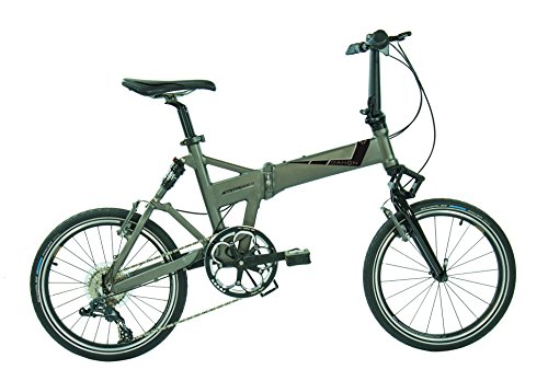 Dahon Jetstream D8 - Bicicleta Plegable para Adulto, Unisex, Color Gris, Talla 20
