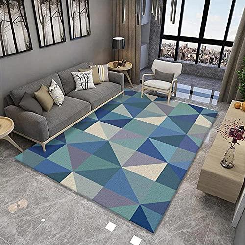La Alfombra alfombras Infantiles niña Modelo de triángulo geométrico Verde Beige Azul Súper Suave Alfombra alfombras oficinas Alfombra Infantil Lavable 60*160cm