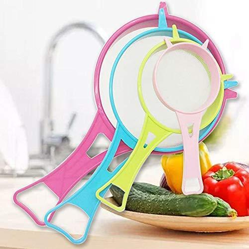4 x Xsrees Multi Purpose Small Plastic Mesh Scoop Strainer Food Sieve Colander Kitchen
