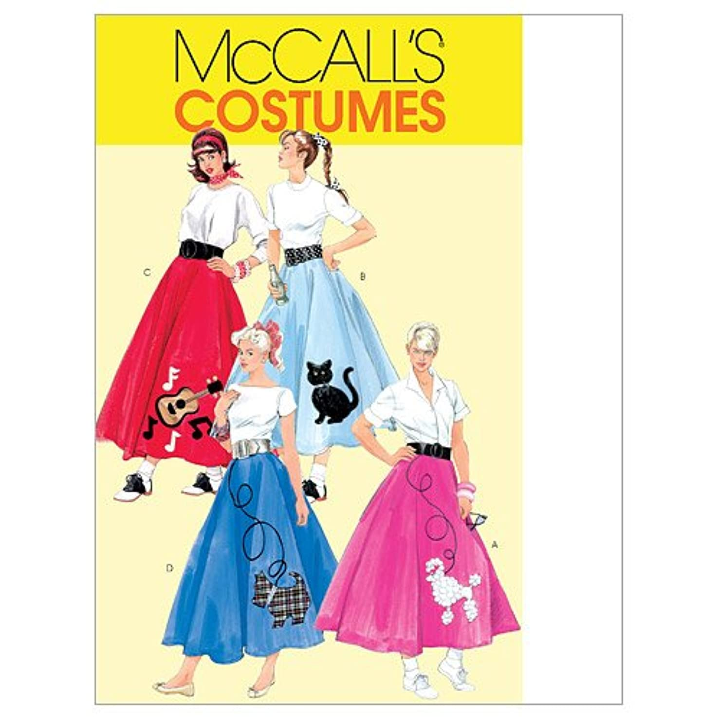 McCall's Patterns M5681 Misses'/Women's Skirt, Petticoat and Appliques, Size RR (18W-20W-22W-24W)