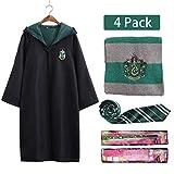 NOL Disfraz de Harry Potter, Disfraz de Slytherin, Cosplay, Capa...