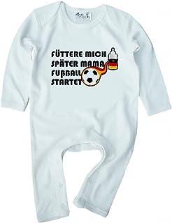 Dirty Fingers, Fütter Mich später Mama, Fußball startet, Baby Strampler
