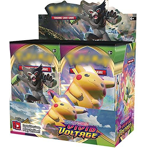 LICHENGTAI Juego de Mesa Booster Card Pack, 360 Piezas GX EX Cartas, XY Evolutions Sealed Booster Box, Poke Cards Pack, Tarjetas de Juego de Dibujos Animados para Niños Adultos