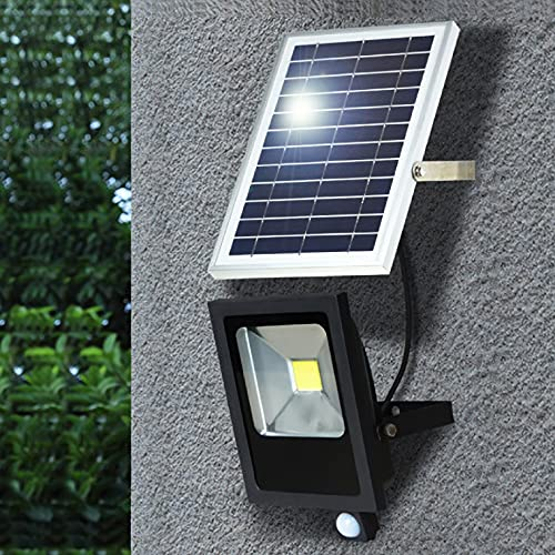 電光ホーム ソーラー ライト 投光器 人感センサー LED 20W 屋外 充電式 防水 明るい センサーライト ガーデンライト スポットライト 防犯 外灯 玄関 庭園 照明 防災グッズ