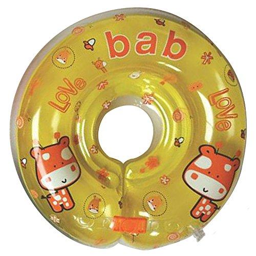 Ajustable inflable bebé recién nacido niño nadar agua cuello flotador niño infantil anillo de natación piscina ayudas trainer juguetes para niños bebés (Orange)