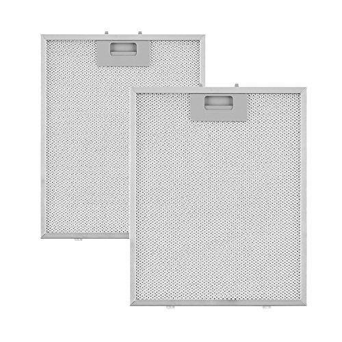 Klarstein Aluminium-Fettfilter - Austauschfilter, Ersatzfilter, 2 x Filter, Klickverschluss, 23,8 x 31,8 x 0,9 cm, ca. 170 g, Aluminium, für Klarstein Sabia Dunstabzugshauben, silber