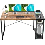 Ecoprsio 47 Inch Computer Desk Home Office Desk with Storage Shelves Industrial Desk Study Writing...
