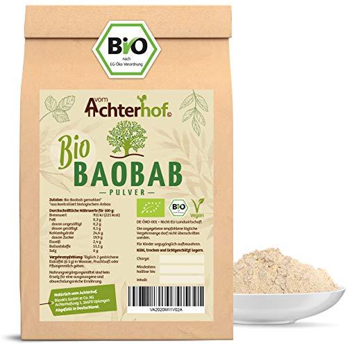 Baobab Pulver Bio | 500g | Affenbrotbaum Fruchtpulver | 100% reines Baobabpulver