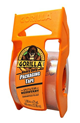 Gorilla Heavy Duty Packing Tape with Dispenser for...
