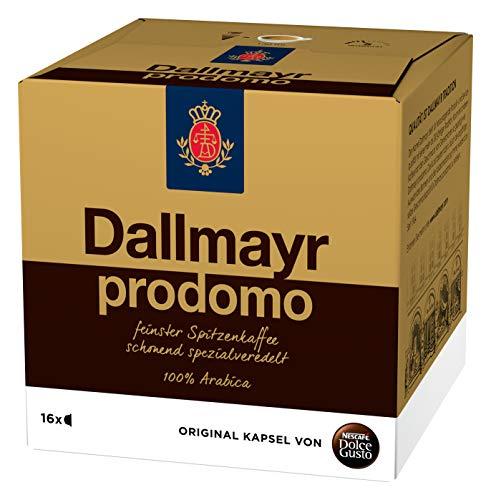 NESCAFÉ Dolce Gusto Dallmayr Prodomo (Spitzenqualität für einen vollaromatischen Geschmack, 100% Arabica-Bohnen, Aromaversiegelte Kapseln) 1er Pack (1 x 16 Kapseln)