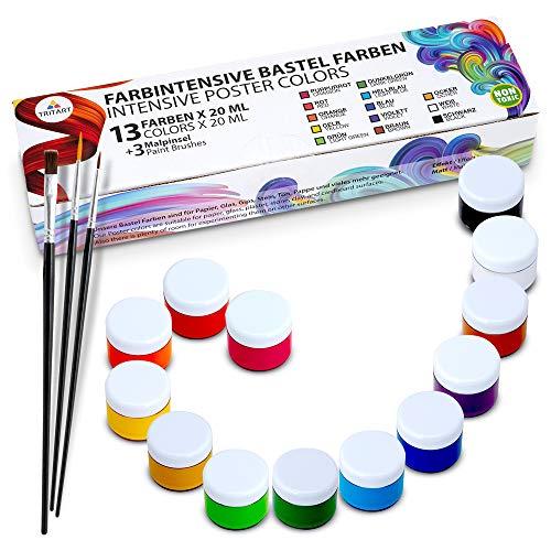 Bastel-Farbe Kinder | 13 x 20ml | Kinderfarben Abwaschbar