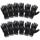 Incutex 12 pares guantes de trabajo guantes de montaje guantes mecánico guantes de construcción con revestimiento en...