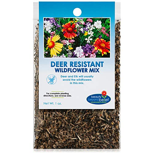 Deer Resistant / Tolerant Wildflower Seeds Bulk Open-Pollinated Wildflower Seed Mix Packet, No Fillers, Annual, Perennial Wildflower Seeds for Planting - 1 oz