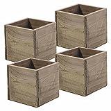 Wood Planter Square Box