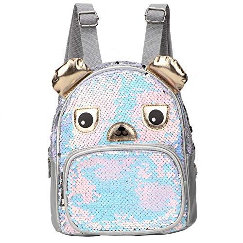 Mochila de dibujos animados, mochila para niños, mochila, duradera para niños para la escuela(Oso de plata)