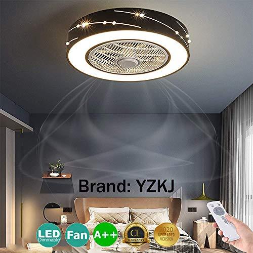 LED Fan Deckenventilator Moderne Deckenleuchte Mit Fernbedienung Leise Fan Licht Schlafzimmer Lampe Wohnzimmer Kindergarten Kinderzimmer Timing Ventilator Deckenlampe Beleuchtung Pendelleuchte (1#)