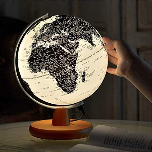 Nfudishpu 20CM Globo Iluminado para niños, Globo Iluminado para niños y Adultos - Globo terráqueo Interactivo para educación y diversión, para la Escuela, los niños y la Familia