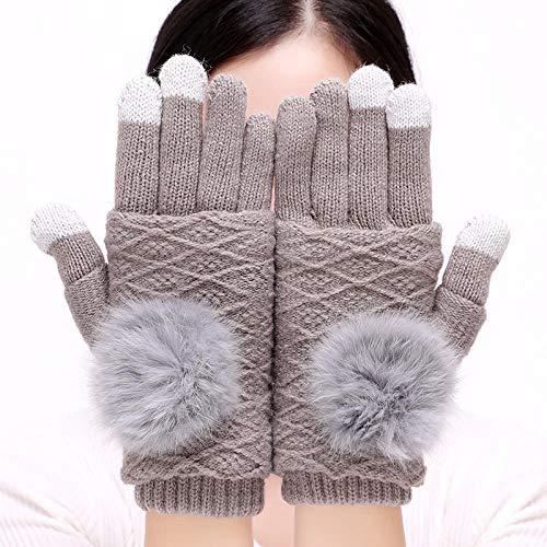 NANA318 Touchscreen-Handschuhe Anti-Rutsch für Damen Herren,Fäustlinge Strickhandschuhe Outdoor-Warm-Handschuhe wasserdichte Touchscreen Gloves Wool Plus Velvet -Handschuhe zum Telefonieren