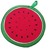 Soul hill Patrón 2 Piezas de Fruta Wipe Toalla de Cocina Absorbente de Trapo del pañuelo de Microfibra paño de Limpieza sandía (Color : Watermelon, Size : One Size)