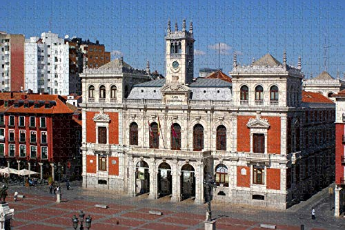 España Mayor Plaza Valladolid Rompecabezas para adultos Regalo de viaje de madera Recuerdo, 1000 piezas 75 × 50cm
