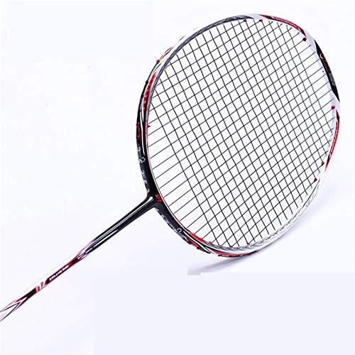 JGRH Bádminton Raqueta Professionele Carbon Bádminton Raqueta Gratis Grips STARUNG (Color : White)