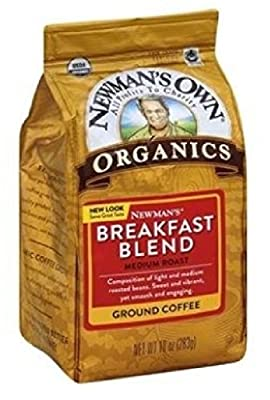 Newman's Own Organics Newman's Breakfast Blend, Ground Coffee, Medium Roast, Bagged 10oz