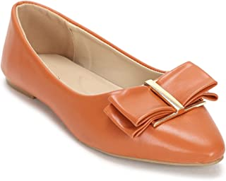 Van Heusen Women's Orange Ballerinas Ballet Flat