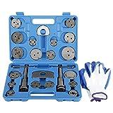 FreeTec 22 TLG. Juego universal de reposicionador de pistones de freno, pistón de freno, juego de herramientas de reparación de pistones de freno