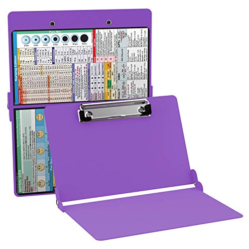 Foldable Clipboard by WhiteCoat Clipboard- Lilac - Nursing Edition Aluminum
