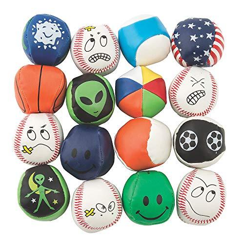 Hacky Sack Kick Balls - Bulk Assortment of 100 Mini Balls - Perfect for Indoor or Outdoor Play - Hacky Sack Party Favors