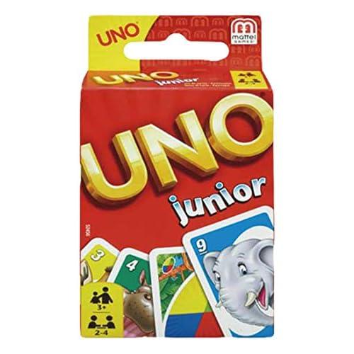 Mattel Games 52456 UNO Junior Kartenspiel für Kinder, geeignet für 2 - 10 Spieler, Spieldauer ca. 15 Minuten, ab 3 Jahren
