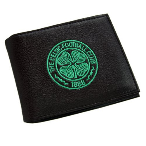 New Official Football Club Embroidered Leather Wallets (celtic Fc Crest)