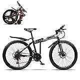 TopJiä Adolescentes Bicicleta De Montaña Plegable,21 Velocidad,Radios.Alta Coincidencia,Barato 24...