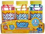 Bubble Magic Solution with Wand 3Pk for Kids Age 3 and Up