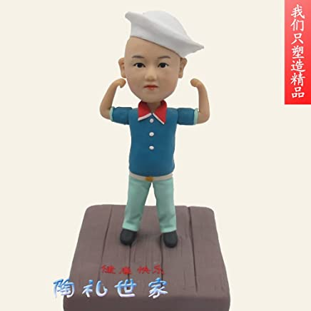 Home & Kitchen Custom character mode handmade customized from person photo making figure model Fimo clay figurines portrait polymer clay doll real doll portrait statue of Q-doll cartoon 1