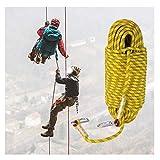 Expedición Montañismo Cuerda Rappel , Cuerda De Escalada Al Aire Libre , Alpinismo Aventura Cuerda Rescate De Campamento Alta Resistencia Cuerda Electrostática Que Salva Vidas 12mm ( Size : 30m )