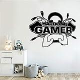 Etiqueta de la pared del juego Etiqueta de la pared Vinilo Arte de la pared Sala de juegos familiar Controlador de videojuegos Póster Pelar y pegar etiqueta de la pared
