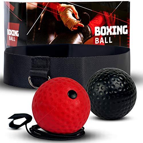 Deluxura Box Ball Stirn für Boxtraining Reflex Training Reaktionsball Boxen Training