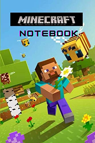 Minecraft Notebook: 100 Wide Ruled Blank Pages | Player's Notebook, Sketchbook, Diary, Journal, Wide Ruled Writing Notebook For Kids, For A Gift, School Notebook, Office Supplies