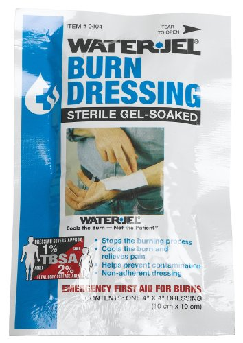First Aid Only 4' X 4' Water Jel Burn Dressing, Sterile (Pack of 3)