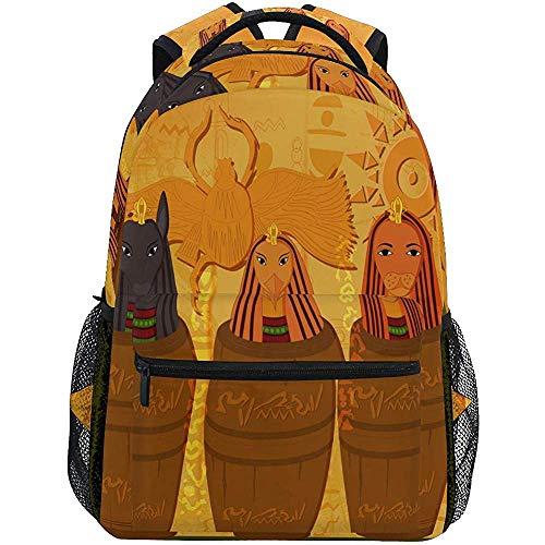 College Bag Antieke rugzak Egiziano en Geroglifico reisrugzak voor dames
