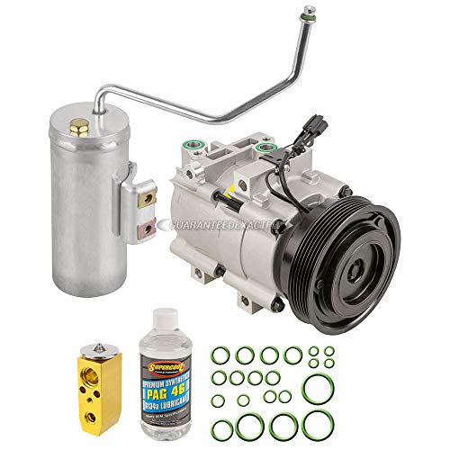AC Compressor /& A//C Repair Kit For Hyundai Santa Fe 2.7L V6 2001 2002 2003 2004 2005 2006 BuyAutoParts 60-80292RK New