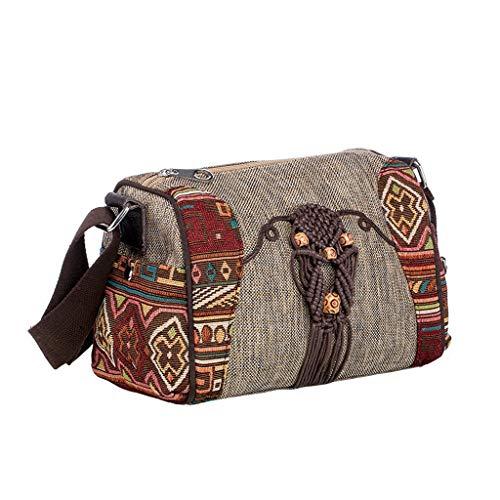 Lrxq dames schouderriem canvas in etnische stijl eigenschappen reizen vrije tijd tas van stof in Chinese stijl