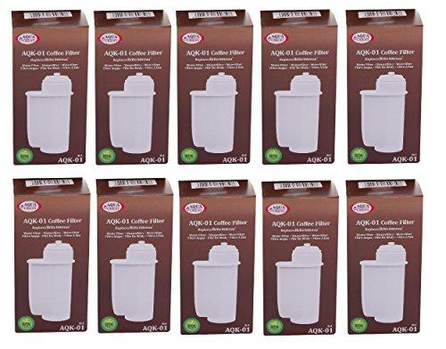 AQUA CREST EcoAqua 10 x Wasserfilter für Bosch VeroBar Siemens EQ3 EQ5 EQ6 EQ8 +9 kompatibel mit Brita Intenza